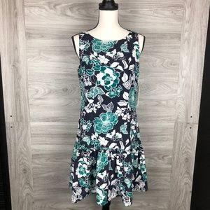 Eliza J Navy Floral Shift Dress Size 6